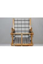 Coussin de chaise haute à carreaux